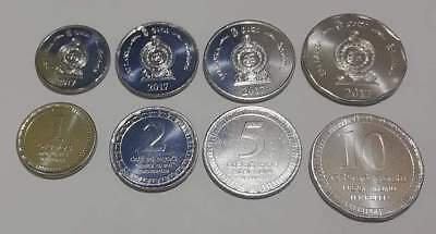 4 different sri lanka UNC mint coins lot/collection 2017