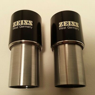 Pair of Zeiss Ocular lenses - Kpl W 10x and Kpl W 10x/20 - Used
