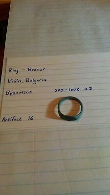 Ancient Byzantine 500-1000 A.D. bronze ring Bulgaria