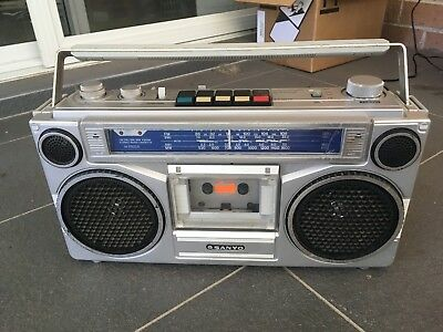 Vintage SANYO M 9903K Stereo Casette Player Boombox