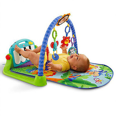 Fisher - Price Kick and Play Piano, Blue