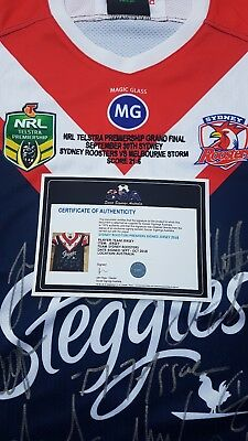 Sydney Roosters Premiers Signed 2018 Jersey With Inscription Ltd Edition