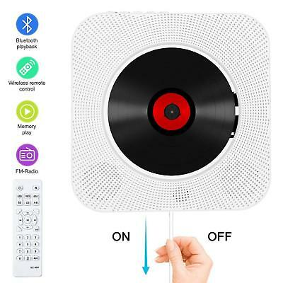 Portable CD Player with Bluetooth, Wall Mountable CD Music Player Home Audio Boo