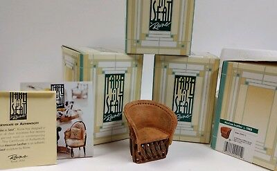 Take A Seat by Raine Mexican Leather - 1980  Standalone Doll House Chair