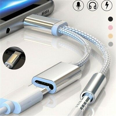 Converter Type C to 3.5mm Jack Audio Splitter Headphone Adapter Charging Cable