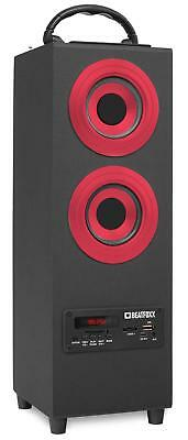 Portable Boombox Radio Audio Speaker Subwoofer Bluetooth Box USB Mp3 SD Red