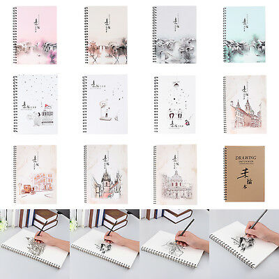 Retro Kraft Cover Sketchbook Diary Drawing Painting Graffiti Notebook Sketchbook