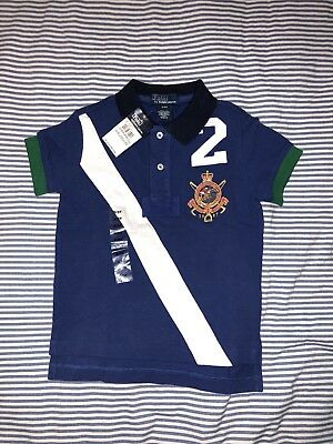 NWT Ralph Lauren Boys Rugby Polo T-shirt Top Tee. 3T Pony SELLING TONS!