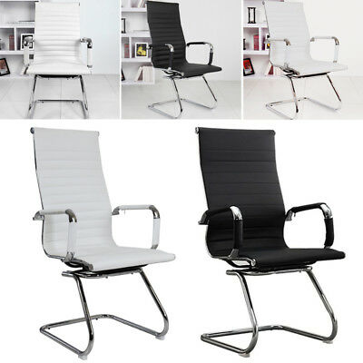Luxury Black/White Executive Office Chair Computer Desk Chairs Racing Gaming NEW