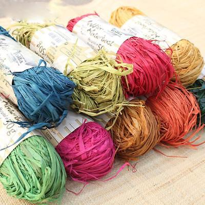 500cm Natural Raffia Fibre Ribbon Gifts Scrapbooking Making DIY Decor Wholesale