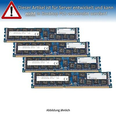 HP 64GB (4x16GB) PC3L-10600R DIMM 2Rx4 (DDR3-1333) ECC Reg. ML350p G8 RAM Kit