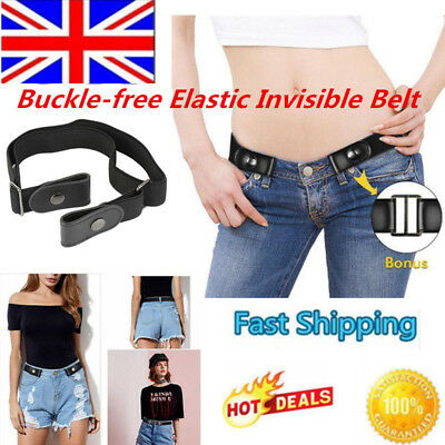 Buckle-free Elastic Invisible Belt for Jeans No Bulge No Hassle Stretch Belts AF