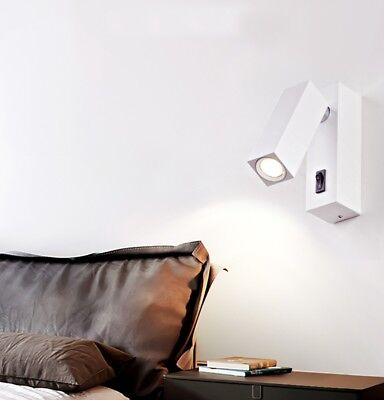 Modern LED Wall Light Adjustable 3W Sconce Bedroom Bedside Porch Lamp w Switch