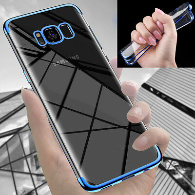 For Samsung Galaxy S6 A9 J7 A5 Case Shockproof Silicone Plating Clear Soft Cover