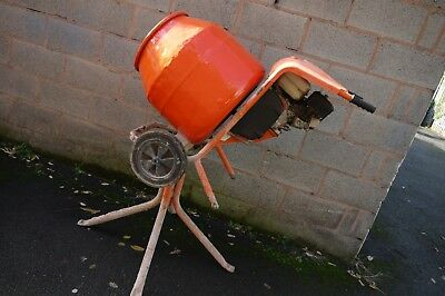 Belle 150 Cement Mixer with stand. Honda GX120 petrol engine