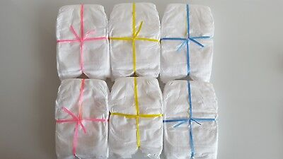 4 Disposable Nappies to fit 16-18 inch dolls. Baby Born/Baby Annabell/Chou Chou