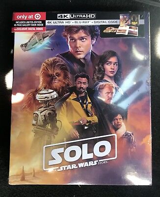 Solo A Star Wars Story 4K UHD Target Exclusive (4K+Bluray+Digital) Brand New