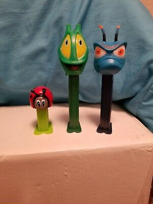 Lot Of 3 Its A Bugs Life Pez Candy Dispensers