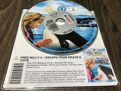 Free Willy - Escape From Pirate's Cove (DVD, 2010) DISK ONLY