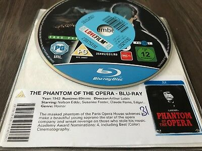 The Phantom Of The Opera Blu-ray, 1943 DISK ONLY
