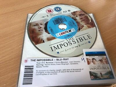 The Impossible (Blu-ray, 2013) DISC ONLY