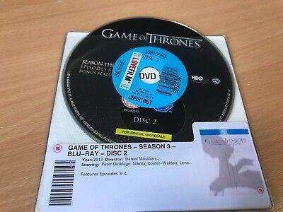 Game Of Thrones Blu Ray Missing / Replacement Discs