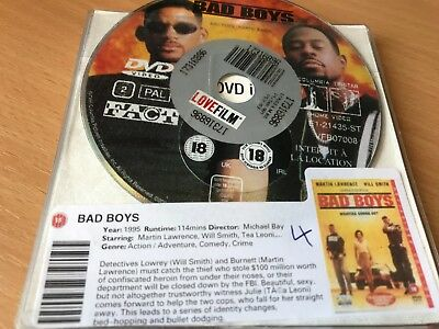 Bad Boys (DVD, 2001) DISC ONLY