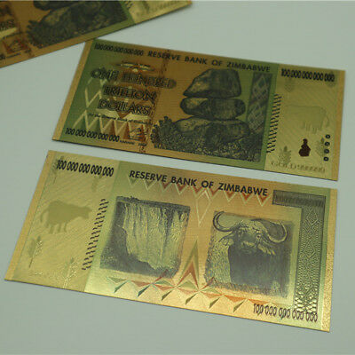 Zimbabwe 100 Trillion Dollar Bill Commemorative Banknote Collection Non-currency