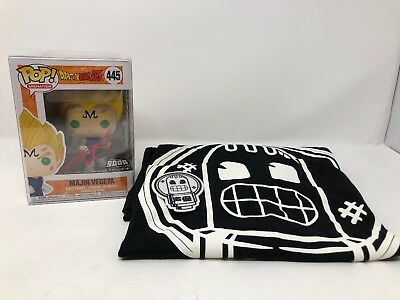 Funko Pop Dragon Ball Z Majin Vegeta NYCC 2018 Over9000 Signed Protector T Shirt