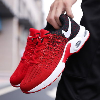 Men's Air Cushion Fashion Sneakers Casual Shoes Flyknit Flywire Athletic Sports