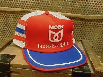 Vintage MODEN 3 Three Stripes Snapback Patch Trucker Cap Hat MADE IN USA