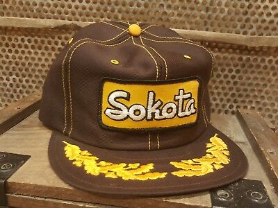 Vintage SOKOTA Snapback Trucker Patch Hat Cap LOUISVILLE MFG CO MADE IN USA