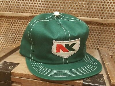 Vintage NK SEEDS Snapback Trucker Hat Cap Patch K PRODUCTS MADE IN USA Farm AG