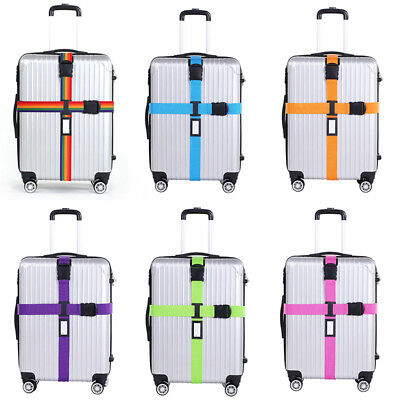 Adjustable Luggage Strap Suitcase Belt Pack Tie Travel Combination Lock Packing