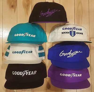 Vintage LOT OF 7 GOODYEAR SNAPBACK Trucker Hat Cap All SWINGSTER MADE IN USA