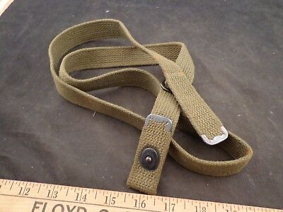 Vintage Us M1 30 Carbine Green Canvas Sling With Snap Marked Klikit & Star