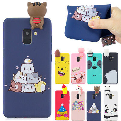 3D Cute Soft  Silicone back Case Cover for Huawei Mate 20 LIte honor 10 9 LIte