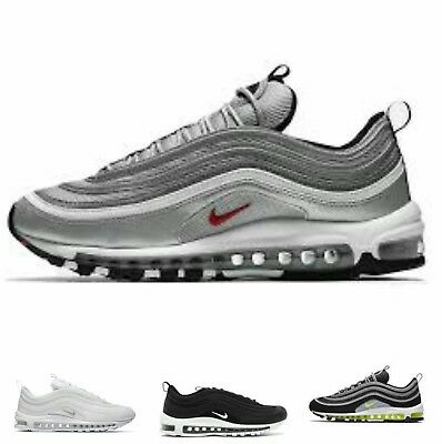 Nike Air Max 97 Silver Og-Qs Bullet- Black-White Japan Volt Nuove Con Box