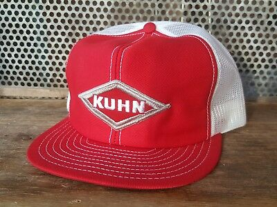 Vintage KUHN Mesh SnapBack Patch Trucker Hat Cap LOUISVILLE MFG MADE IN USA