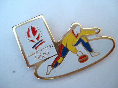 Pins Rare Sport Curling Jeux Olympiques Alberville 92