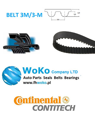 Belt 339-3M-18 HTD Timing Belt 339 mm Long 18mm Wide & 3mm Pitch 339M3 CONTITECH