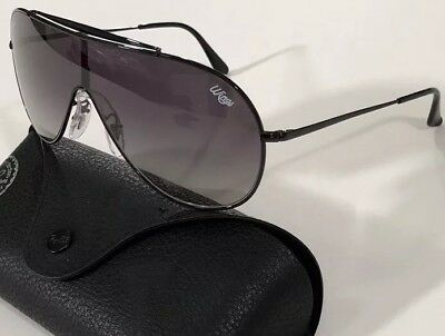 1fb326414952b NWT RAY BAN Men s RB 3597 002 11 WINGS EDITION BLACK GRADIENT SUNGLASSES  140mm