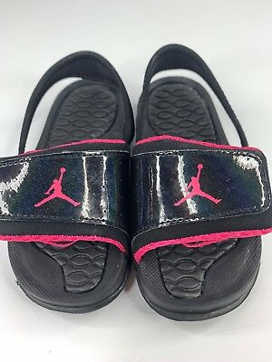 1bad4e81e7b6ca INFANT TODDLER Jordan Hydro 2 Sandal Black Pink 487574 009 -  19.25 ...