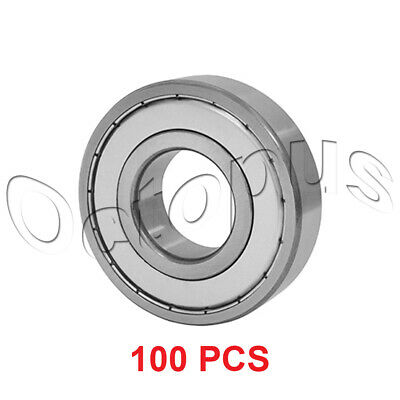 100 Pcs Premium 6001 ZZ  ABEC3 Metal Shields Deep Groove Ball Bearing 12x28x8mm