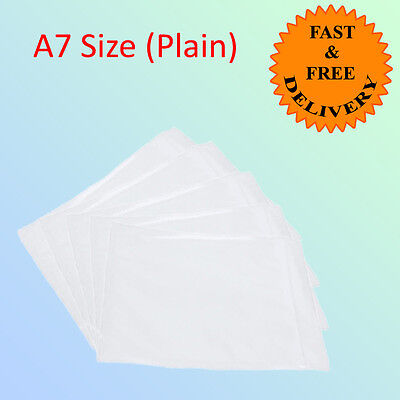 1000 A7 Document Enclosure Envelope 123mm x 110mm PLAIN Quick Dispatch CHEAPER