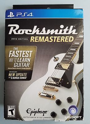Rocksmith 2014 Edition Remastered - PlayStation 4 PS4 (Real Tone Cable Included)