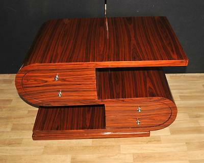 Art Deco Coffee Table - S Shape Rosewood Modernist Furniture