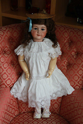 "Large 28"" French Antique Doll marked SFBJ 301 Paris circa 1900s"