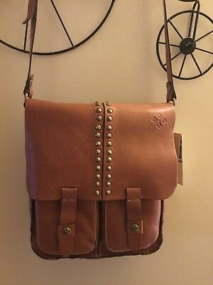 Patricia Nash Garment Washed Armeno Tan Shoulder Bag NWT