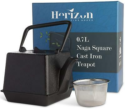 Japanese Style Cast Iron Kettle Teapot With Strainer Skillfully Crafted Gift Set